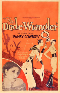 """The Dude Wrangler (Sono Art-World Wide Pictures, 1930). Window Card (14"""" X 21.5"""")"""
