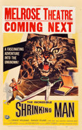 "Movie Posters:Science Fiction, The Incredible Shrinking Man (Universal International, 1957).Window Card (14"" X 22"").. ..."
