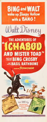 "The Adventures of Ichabod and Mr. Toad (RKO, 1949). Insert (14"" X 36"")"