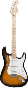 Musical Instruments:Electric Guitars, Eric Johnson Signed 1996 Fender Custom Shop '54 Re-IssueStratocaster Sunburst Solid Body Electric Guitar, Serial #CN504394....