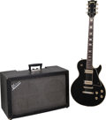 Musical Instruments:Electric Guitars, 1977 Univox Gimme Custom Black Solid Body Electric Guitar and BlackTwin Amplifier, Serial # 0126006.... (Total: 2 Items)