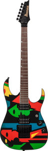 Musical Instruments:Electric Guitars, 1996 Ibanez John Petrucci JPM100 P2 Multi-Color Solid Body ElectricGuitar, Serial # F511367....