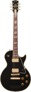 Musical Instruments:Electric Guitars, 1998 Gibson Les Paul Custom Black Solid Body Electric Guitar,Serial # 8 9770....