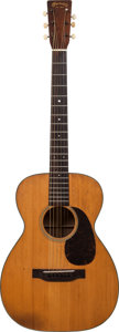 Musical Instruments:Acoustic Guitars, 1943 Martin 0-18 Natural Acoustic Guitar, Serial # 83874....