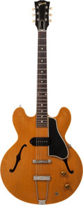 Musical Instruments:Electric Guitars, Circa 1960 Gibson ES-330NT Natural Semi-Hollow Body ElectricGuitar, Serial # R4295....