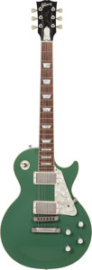Musical Instruments:Electric Guitars, 1998 Gibson Les Paul Standard Green Solid Body Electric Guitar,Serial # 92718408....