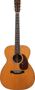 Musical Instruments:Acoustic Guitars, 1945 Martin 000-28 Natural Acoustic Guitar, Serial # 92368....
