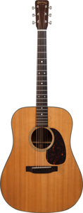 Musical Instruments:Acoustic Guitars, 1964 Martin D-21 Natural Acoustic Guitar, Serial # 199569....