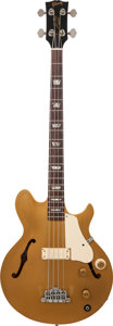 Musical Instruments:Bass Guitars, Circa 1973 Gibson Les Paul Signature Gold Electric Bass Guitar, Serial # 140169....