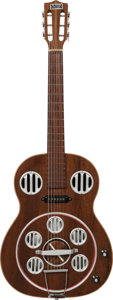 Musical Instruments:Resonator Guitars, 1960's Del Vecchio Natural Electric Resonator Guitar....