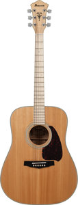 Musical Instruments:Acoustic Guitars, 1980's Ibanez NW40 Natural Acoustic Guitar, Serial # 8301062....