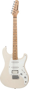Musical Instruments:Electric Guitars, 1990's Ibanez Blazer White Solid Body Electric Guitar....