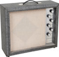 Musical Instruments:Amplifiers, PA, & Effects, 1960's Silvertone Model 1482 Grey Guitar Amplifier....