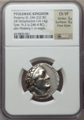 Ancients:Greek, Ancients: PTOLEMAIC EGYPT. Ptolemy III Euergetes (246-222 BC). ARtetradrachm (14.14 gm). NGC Choice VF 3/5 - 4/5, Fine Style....