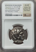 Ancients:Greek, Ancients: MACEDONIAN KINGDOM. Alexander III the Great (336-323 BC).AR tetradrachm (17.10 gm)....