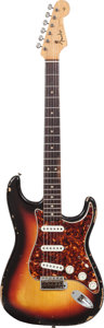 Musical Instruments:Electric Guitars, 1964 Fender Stratocaster Sunburst Solid Body Electric Guitar,Serial # L28884....