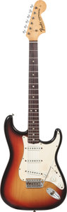 Musical Instruments:Electric Guitars, 1970 Fender Stratocaster Sunburst Solid Body Electric Guitar,Serial # 292474....