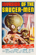 """Movie Posters:Science Fiction, Invasion of the Saucer-Men (American International, 1957). OneSheet (27"""" X 41"""").. ..."""