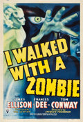 "Movie Posters:Horror, I Walked with a Zombie (RKO, 1943). One Sheet (27.5"" X 41"").. ..."