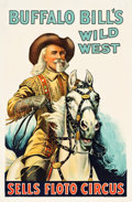 "Movie Posters:Western, Buffalo Bill's Wild West and Sells Floto Circus (Circus Poster,1926). One Sheet (27"" X 41"").. ..."