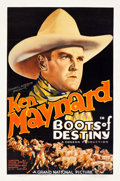"Movie Posters:Western, Boots of Destiny (Grand National, 1937). One Sheet (27"" X 41"")....."