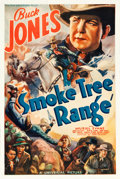 "Movie Posters:Western, Smoke Tree Range (Universal, 1937). One Sheet (27.5"" X 41"").. ..."