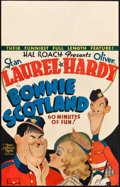 "Movie Posters:Comedy, Bonnie Scotland (MGM, 1935). Window Card (14"" X 22"").. ..."