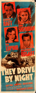 "Movie Posters:Drama, They Drive by Night (Warner Brothers, 1940). Insert (14"" X 36"")....."
