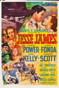 "Movie Posters:Western, Jesse James (20th Century Fox, 1939). One Sheet (27"" X 41"") Style B.. ..."