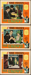 "Movie Posters:Drama, The Crowd (MGM, 1928). Lobby Cards (3) (11"" X 14"").. ... (Total: 3Items)"