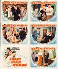 "Movie Posters:Drama, Front Page Woman (Warner Brothers, 1935). Title Lobby Card andLobby Cards (5) (11"" X 14"").. ... (Total: 6 Items)"