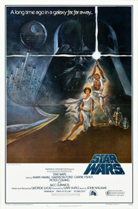 """Star Wars (20th Century Fox, 1977). First Printing One Sheet (27"""" X 41""""). Flat Folded No Ratings Box Style A..."""