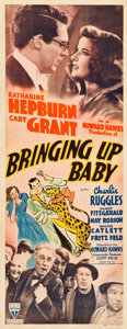 "Movie Posters:Comedy, Bringing Up Baby (RKO, 1938). Insert (14"" X 36"").. ..."