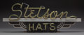 Art Glass:Other , A Rare Art Deco Neon Stetson Hats Sign, circa 1920. 25-3/4 incheslong (65.4 cm). ...
