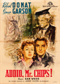 "Movie Posters:Drama, Goodbye, Mr. Chips (MGM, Mid-1940s). First Post-War Italian 4 -Fogli (55"" X 78"") Angelo Cesselon Artwork.. ..."