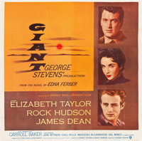 "Giant (Warner Brothers, 1956). Six Sheet (81"" X 81"")"
