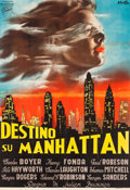 "Movie Posters:Drama, Tales of Manhattan (Titanus, 1949). First Post-War Release Italian4 - Fogli (49.5"" X 72.5"") Averardo Ciriello Artwork.. ..."