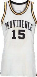Basketball Collectibles:Uniforms, 1970-73 Ernie DiGregorio Game Worn Providence Friars Jersey andShorts....