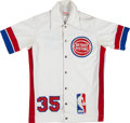 Basketball Collectibles:Uniforms, 1985-86 Mike Gibson Game Worn Detroit Pistons Warmup Jacket andPants....