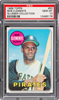 Baseball Cards:Singles (1960-1969), 1969 Topps Roberto Clemente #50 PSA Gem Mint 10 - Pop Six....