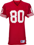 Football Collectibles:Uniforms, 1985-88 Jerry Rice Game Worn San Francisco 49ers Jersey, MEARS A10 - Three Team Repairs! ...
