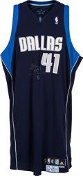 Basketball Collectibles:Uniforms, 2006-07 Dirk Nowitzki Game Worn, Signed Dallas Mavericks PlayoffsJersey - MeiGray. ...