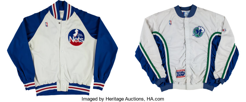 new concept 15dbe 59b08 Circa 1990 New Jersey Nets & Dallas Mavericks Warmup ...