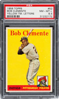 Baseball Cards:Singles (1950-1959), 1958 Topps Roberto Clemente #52 (Yellow Letters) PSA NM-MT+ 8.5....