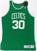 Basketball Collectibles:Uniforms, 1993-94 Lamont Strothers Game Worn Boston Celtics Jersey....