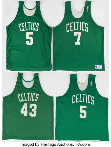 promo code 7de28 7a557 1990's Boston Celtics Practice Jerseys Lot of 4 ...
