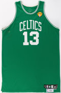 Basketball Collectibles:Uniforms, 2010 Sheldon Williams Game Worn NBA Finals Boston CelticsJersey....