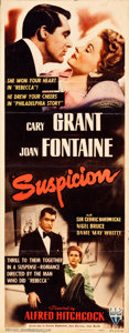 "Movie Posters:Hitchcock, Suspicion (RKO, 1941). Insert (14"" X 36"").. ..."