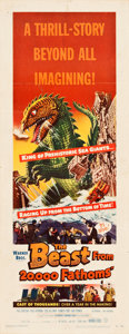 "Movie Posters:Science Fiction, The Beast from 20,000 Fathoms (Warner Brothers, 1953). Insert (14""X 36"").. ..."