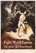 "Movie Posters:War, World War I Propaganda (Department of Labor, 1917). U.S. EmploymentService Poster (18.75"" X 27.75"") ""Fight World Famine."". ..."